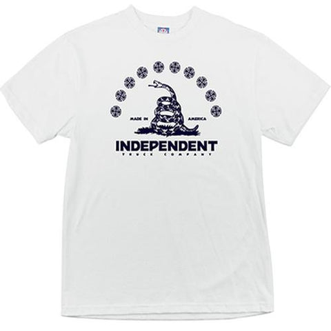 Independent Trucks T Shirt: Republic White  SALE T Shirts- Edge Boardshop
