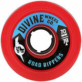 Divine Longboard Wheels: Road Rippers 70mm 78a Red Wheels- Edge Boardshop