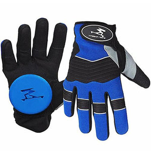 Timeship Longboard Slide Gloves: Freeriders Blue