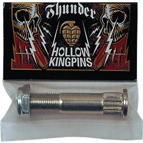 Thunder Trucks King Pin: Hollow King Pin Silver