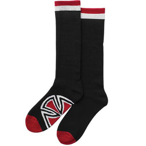 Independent Trucks Socks: Bar/Cross Black Socks- Edge Boardshop