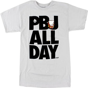 Enjoi Skateboard T-Shirt: PBJ All Day Silver  SALE T Shirts- Edge Boardshop