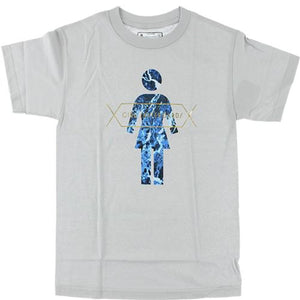 Girl Skateboards T Shirt: Marbles Logo Silver SALE T Shirts- Edge Boardshop