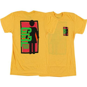 Girl Skateboards T Shirt: Spike It Gold  SALE T Shirts- Edge Boardshop