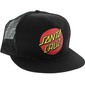 Santa Cruz Skateboard Hat: Dot Mesh Black Hats- Edge Boardshop