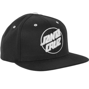 Santa Cruz Skateboard Hat: Dot Logo Twill Black Hats- Edge Boardshop