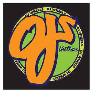 OJ Skateboard Wheels Sticker: OJ Standard Logo Stickers- Edge Boardshop