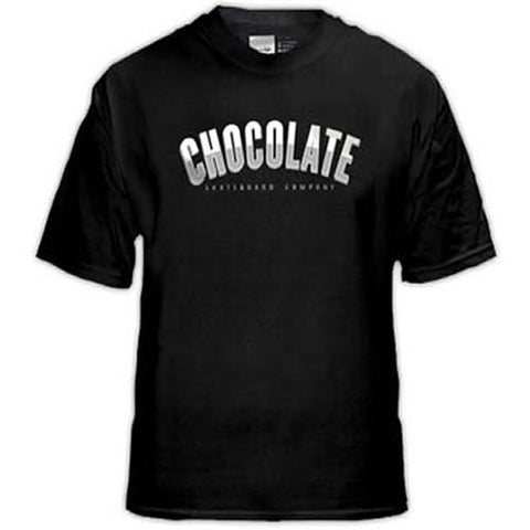 Chocolate Skateboards T Shirt: Athletics Black  SALE T Shirts- Edge Boardshop