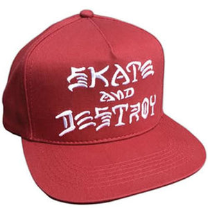 Thrasher Hat: SAD Skate and Destroy Emb Red