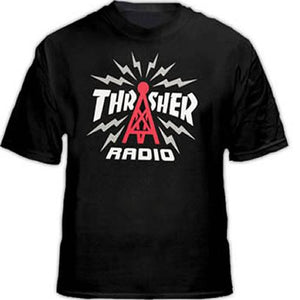 Thrasher T Shirt: Radio Black