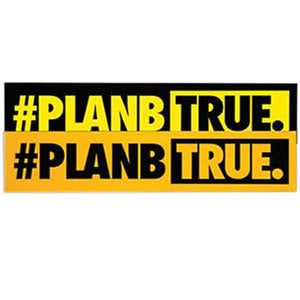 Plan B Skateboards Sticker: True Bumber Sticker Stickers- Edge Boardshop