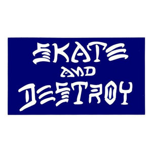 Thrasher Sticker: Skate & Destroy Small