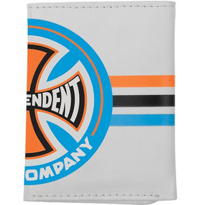 Independent Trucks Wallet: Tri-Fold Stripes Grey Wallets- Edge Boardshop