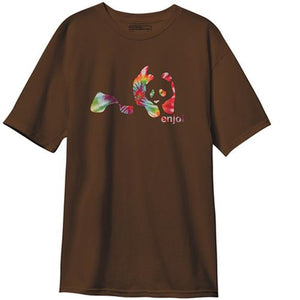Enjoi Skateboard T-Shirt: Panda Tie Dye Dark Chocolate T Shirts- Edge Boardshop
