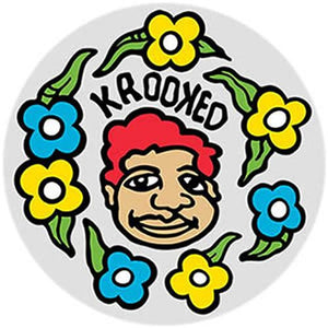 "Krooked Skateboards Sticker: Sweatpants 5"" Stickers- Edge Boardshop"
