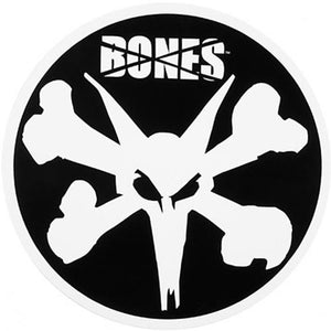 "Bones Wheels Sticker: OG Logo 6"" Stickers- Edge Boardshop"