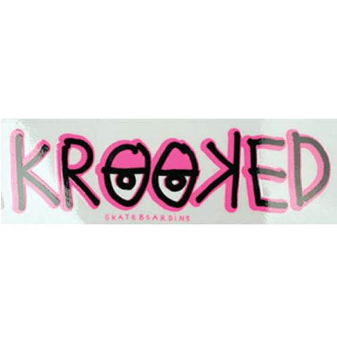 "Krooked Skateboards Sticker: Eyes 5"" Rectangle Stickers- Edge Boardshop"