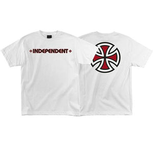 Independent Trucks T Shirt: Bar/Cross White T Shirts- Edge Boardshop