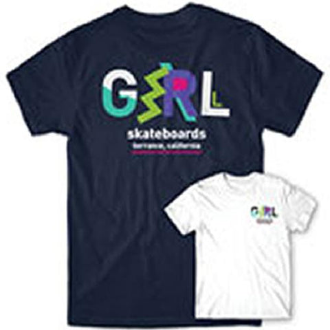 Girl Skateboards T Shirt: Ziggy Navy  SALE T Shirts- Edge Boardshop