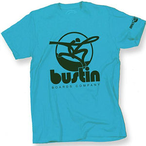 Bustin T Shirt: Oversized Logo Blue T Shirts- Edge Boardshop