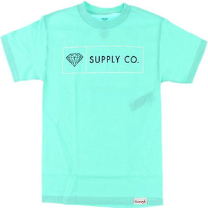 Diamond Supply T Shirt: Boxed In Teal Blue T Shirts- Edge Boardshop