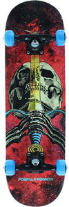 Powell Skateboard Complete: Skull & Sword Cosmic Red 7.88 Boards- Edge Boardshop