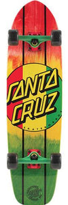 Santa Cruz Longboard Complete: Rasta Dot Jammer Mid 33 Boards- Edge Boardshop
