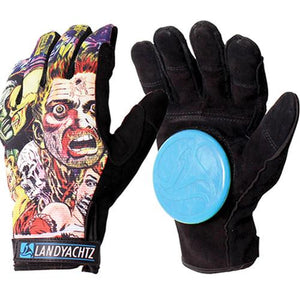 Landyachtz Slide Gloves: Comic Slide Gloves Slide Gloves & Pucks- Edge Boardshop