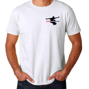 EDGE T Shirt: EDGE Skater Logo White T Shirts- Edge Boardshop