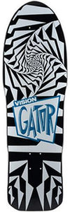 Vision Skateboard Deck: Gator 2 White Black