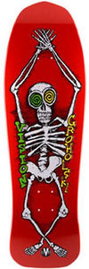 Vision Skateboard Deck: Groholski Skeleton 30 Red