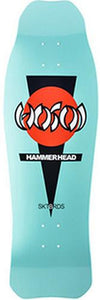 Hosoi Skateboard Deck: Hammerhead Double Kick Blue Boards- Edge Boardshop