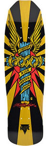 Hosoi Skateboard Deck: Wings 32 Yellow Boards- Edge Boardshop