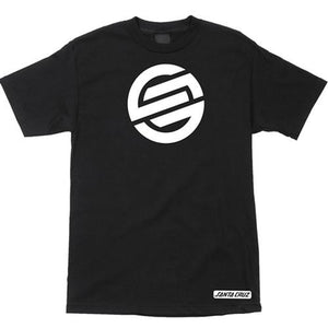 Santa Cruz T Shirt: Knot Black T Shirts- Edge Boardshop