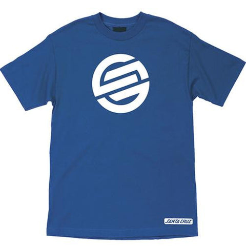 Santa Cruz T Shirt: Knot Blue T Shirts- Edge Boardshop