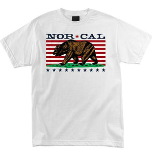 Nor Cal T Shirt: Freedom White SALE T Shirts- Edge Boardshop