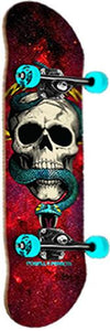 Powell Skateboard Complete: Blacklight Skull Snake Red SALE Boards- Edge Boardshop