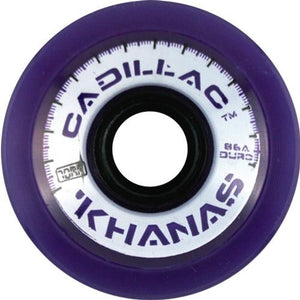 Cadillac Longboard Wheels: Khanas 66mm 86a Purple Wheels- Edge Boardshop