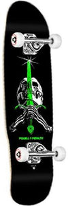 Powell Skateboard Complete: Skull & Sword Black Green 8.0 Boards- Edge Boardshop