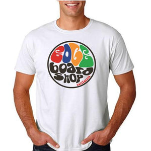 EDGE T Shirt: EDGE Groovy White T Shirts- Edge Boardshop