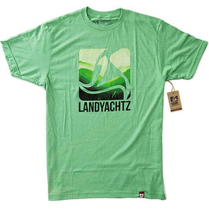 Landyachtz T Shirt: Green Mountains T Shirts- Edge Boardshop