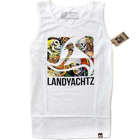 Landyachtz T Shirt: Comic Tank Top T Shirts- Edge Boardshop