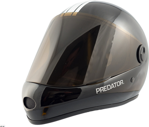 Predator Full Face Helmet: Predator DH 6 Gloss Black Helmets Full Face- Edge Boardshop