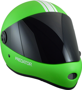 Predator Full Face Helmet: DH 6 Lime Green Helmets Full Face- Edge Boardshop