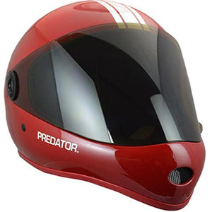 Predator Full Face Helmet: DH 6 Matte Red Helmets Full Face- Edge Boardshop