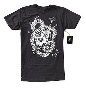 Bear Trucks T Shirt: Rattle Skull Logo T Shirts- Edge Boardshop