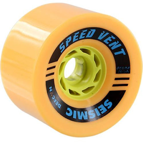 Seismic Longboard Wheels: Speed Vent 85mm 78.5a Mango