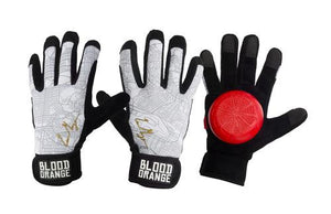 Blood Orange Slide Gloves: Pro Model Liam Morgan Slide Gloves & Pucks- Edge Boardshop