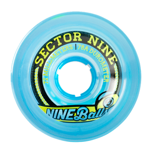 Sector 9 Longboard Wheels: Nine Ball 72mm 78a Blue