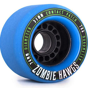 Hawgs Longboard Wheels:  Zombie 76mm 78a Blue Wheels- Edge Boardshop